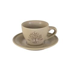 Чашка с блюдцем 0,2л дерево жизни Terracotta