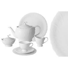 Сервиз чайный белый город 40 предметов 12 персон Emerald E6-sm077/40al