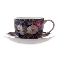 Чашка с блюдцем Maxwell & Williams Полночные цветы 0.25 л