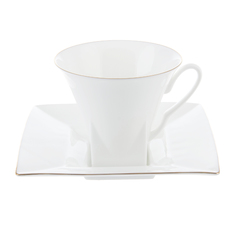 Чашка с блюдцем петрополь золотая лента Ифз