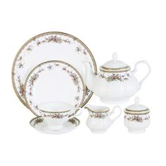 Сервиз чайный на 12 персон изабелла Emerald E5-15-606/40-al