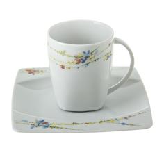 Чашка с блюдцем Thun 1794 eye 160мм флора