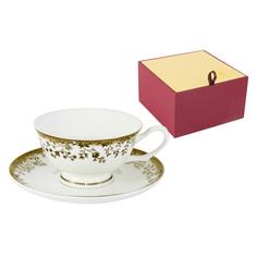 Чашка с блюдцем золотой луг 0.2л Emerald E5-16-909/csm-al