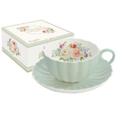 Чашка/блюдцем 0.2королевский сад зелен R2s