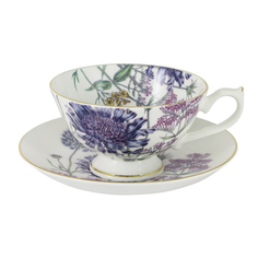 Чашка с блюдцем 0.2л сирен.цветы лаура Annalafarg