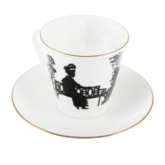 Чашка с блюдцем чёрный кофе встреча Ифз