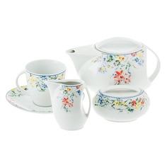 Сервиз чайный Thun 1794 Лоос летние мотивы 9 предметов 6 персон