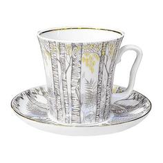 Бокал с блюдцем чайный, форма ленинградский - половодье Лфз