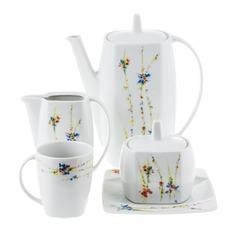 Сервиз кофейный Thun 1794 eye флора 9 предметов 6 персон