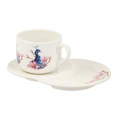 Пара чайная Ceramica cuore peacock 350мл