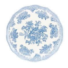 Тарелка для торта Burleigh Синие азиатские фазаны 28 см