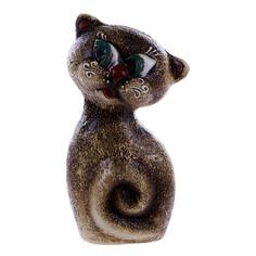 Скульптура керамическая котенок Porc-сeramic