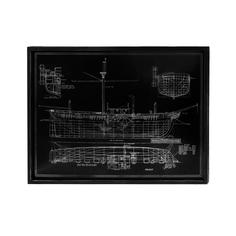 Панно декоративное Fuzhou rirong корабль 60х80х2,8