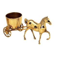 Фигурка Stilars лошадь с тележкой античная латунь 0546A
