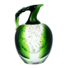 Фигурка Art glass-сувенир зеленое яблоко 9.5х14.5 см