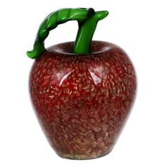 Фигурка Art glass-сувенир яблоко 10х16см