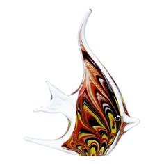 Фигурка Art glass-сувенир пестрая скалярия17х19см