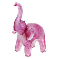 Фигурка Art glass-сувенир розовый слон 16х21см