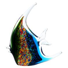 Фигурка Art glass-сувенир цветная скалярия 17х19см
