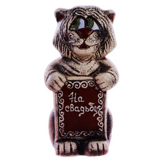 Скульптура керамическая кот кузя м Porc-сeramic