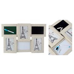 Фоторамка-коллаж Русские подарки на 3 фото с досками для записи 49x32 см