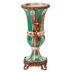 Ваза фарфоровая с бронзой 47см Handicraft