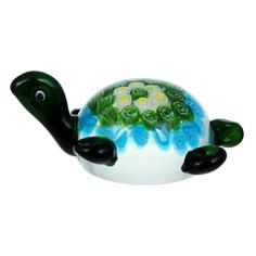 Фигурка Art glass-сувенир черепаха 11х5см