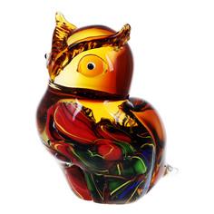 Фигурка Art glass-сувенир совенок 13х17 см