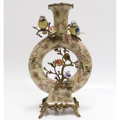 Ваза с цветами и птичками 49.5 см Wah luen handicraft