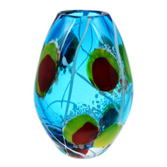 Ваза Art glass-сувенир лагуна 19см
