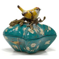Шкатулка с птичкой 14см Wah luen handicraft
