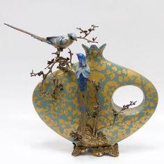 Ваза с птицами 44.5см Wah luen handicraft