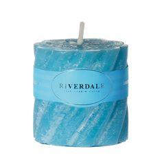 Свеча swirl ocean голубой 5х5см Riverdale