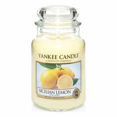 Ароматическая свеча Yankee candle большая Сицилийский лимон 623 г