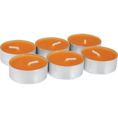 Свечи чайные аромат 6шт апельсин Bolsius