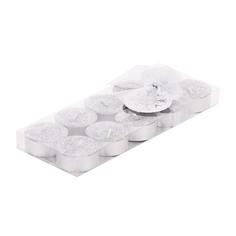 Набор свечей чайных 10шт серебро Edg