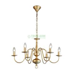 Люстра подвесная Citilux БОННА перл.-золот. 6 ламп (CL426162)