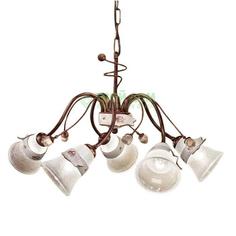 Люстра подвесная Ferroluce Люстра стеклянная с пятью лампами с бантом (C1004/C)
