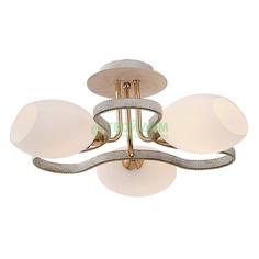Люстра потолочная Citilux ОКТАВА Октава белый+золото 3 лампы (CL131133)