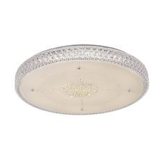Люстра потолочная светодиодная с диммером Citilux Кристалино белый прозрачный CL705131