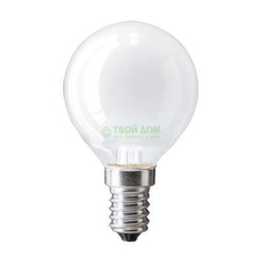 Лампа накаливания Navigator шарик матовая 60Вт цоколь E14