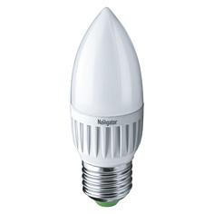 Лампа светодиодная Navigator свеча матовая 7Вт цоколь E27 (холодный свет)