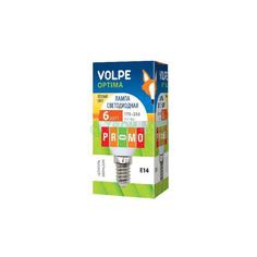 Лампочка Volpe LED-G45-6W/WW/E14/FR/O КАРТОН