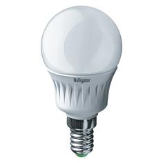 Лампа светодиодная Navigator шарик матовая 7Вт цоколь E14 (холодный свет)