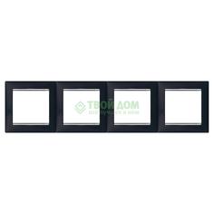 Монтажная рамка Legrand Valena 770394 ноктюрн/серебро