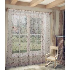 """Тюль Sanpa Home Collection """"Сакура"""" 300х270 см темно-розовый"""