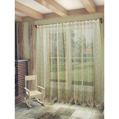 """Тюль Sanpa Home Collection """"Брук"""" 300х260 см бежево-коричневый"""