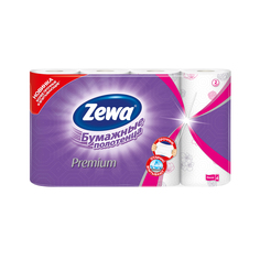 Бумажные полотенца Zewa Premium Декор, 4 рулона