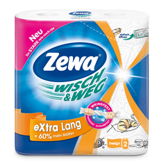 Бумажные полотенца Zewa Wish&Weg, 2 рулона