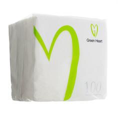 Салфетки белые 100 шт. Green Heart (СБГ24/100-01)